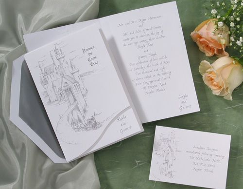 Fairytale Wedding Invitations With Castle Theme By Wedding Invitations  The  Office Gal
