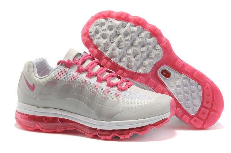 Nike air max 95 360 white and pink womens shoes for sale