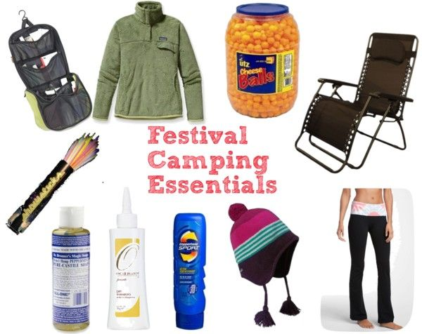 Camping Festival Essentials. Cheese Balls definitely at the top of the list.