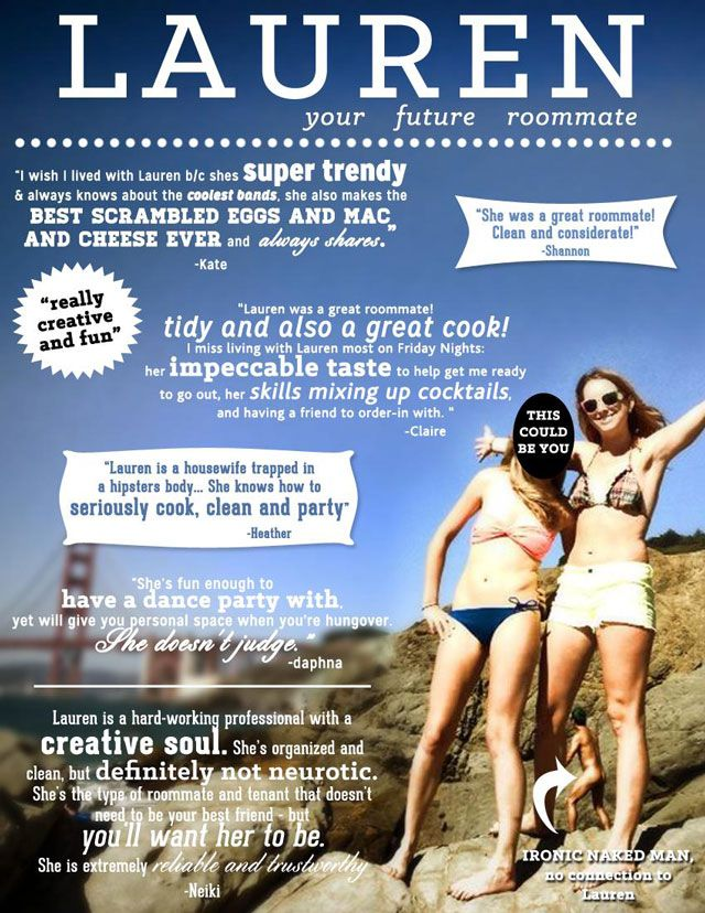 Designer faz anúncio criativo para conseguir colega de quarto – deu certo http://www.bluebus.com.br/designer-anuncio-criativo-conseguir-colega-quarto-deu-certo/