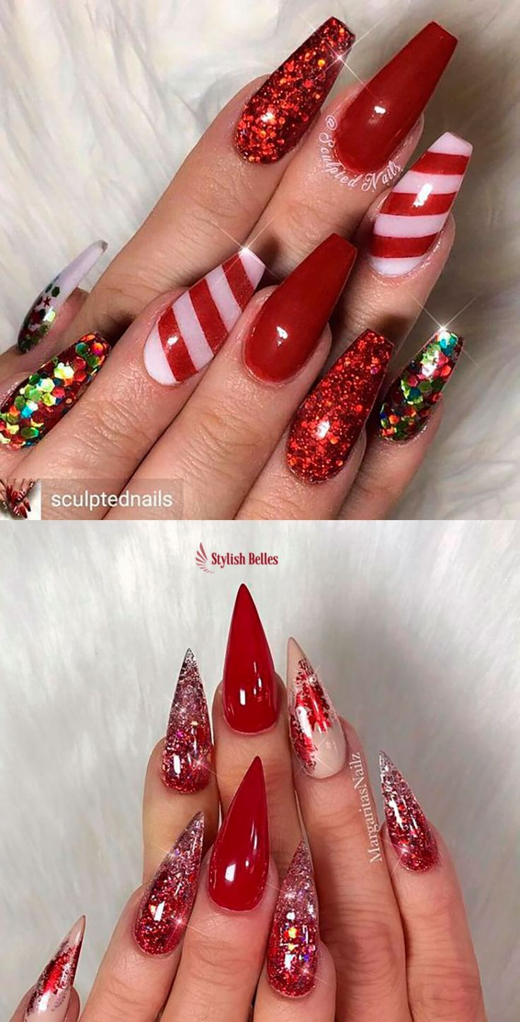 The Cutest And Festive Christmas Nail Designs For Celebration Cute Christmas Nails Christmas Nail Designs Shiny Nails Designs