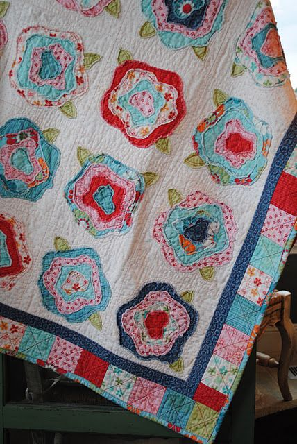 French roses quilt pattern.