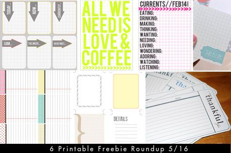 6 Random Printable Journaling Card Freebies for Project Life/ Project365 | [ One Velvet Morning ]