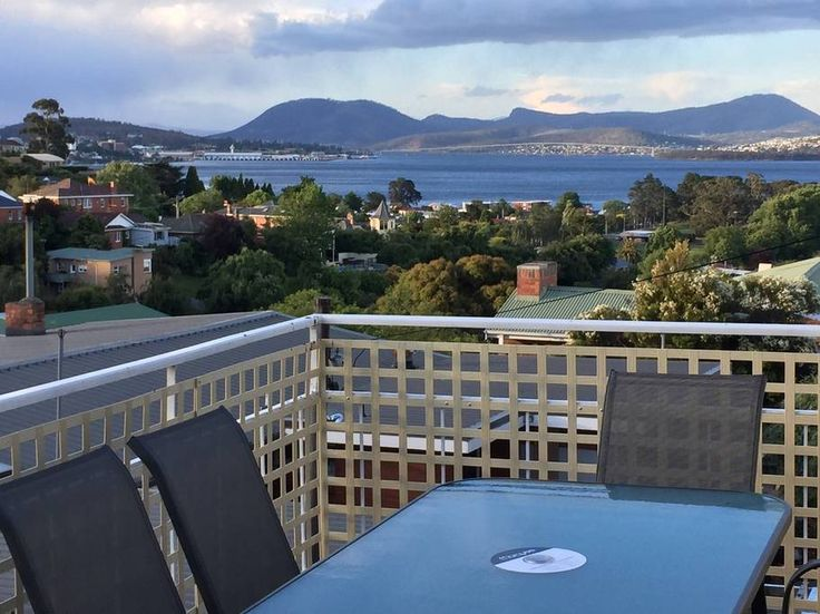 Apartment in Sandy Bay, Australia. Warm and sunny 3 bedroom apartment located just mere 500m from Long Beach with breathtaking water views and Mt Wellington from the deck and lounge. 1 queen bed, 1 double bed, 2 twin beds, separate lounge and kitchen with dining space. Private bath...