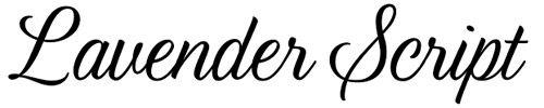 Lavender Script - 30 Best Cursive Scripts