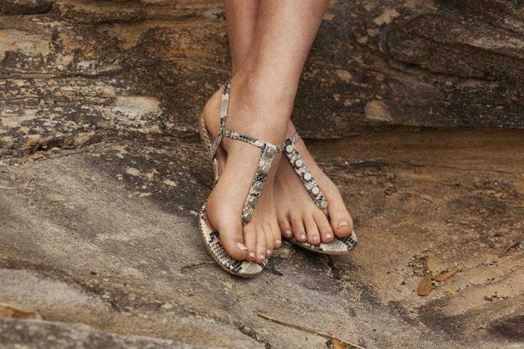 BABYLON in white snake - $69.95