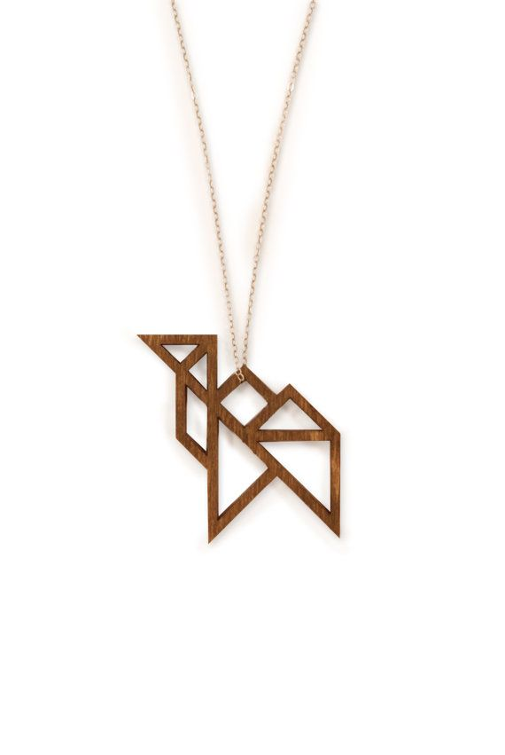 tangram pendant: camel necklace handmade by MAKEatx