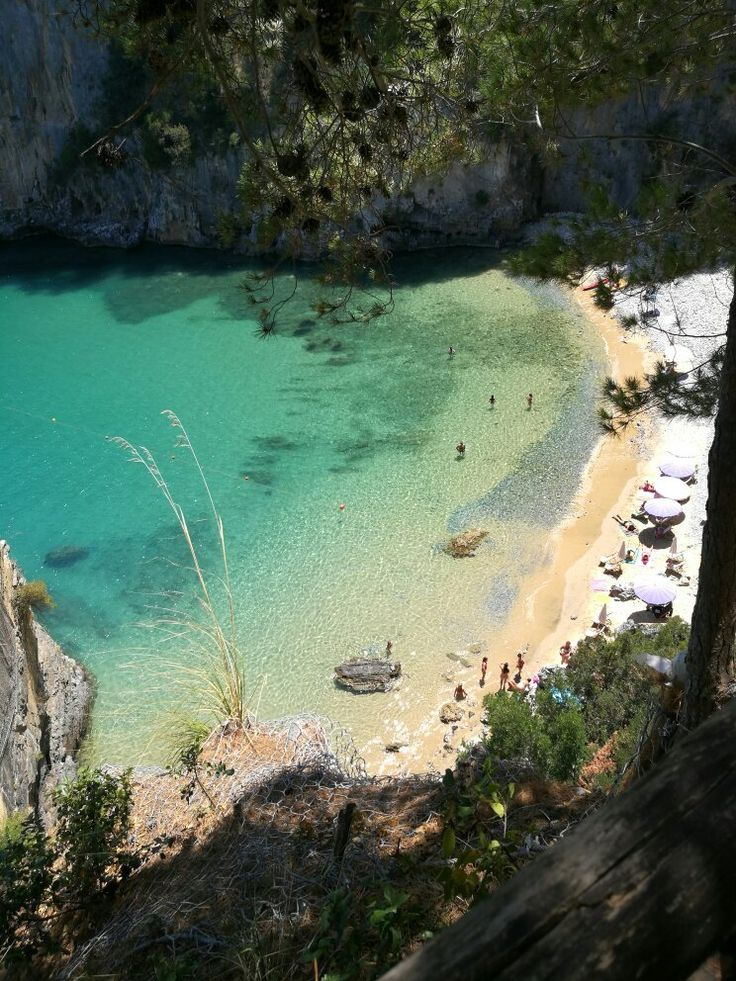 **Baia del Buon Dormire (secluded cove only reachable by boat, gets crowded with tour boats) - Palinuro, Italy