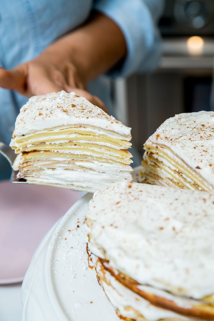 Delicious Crepe Layer Cake