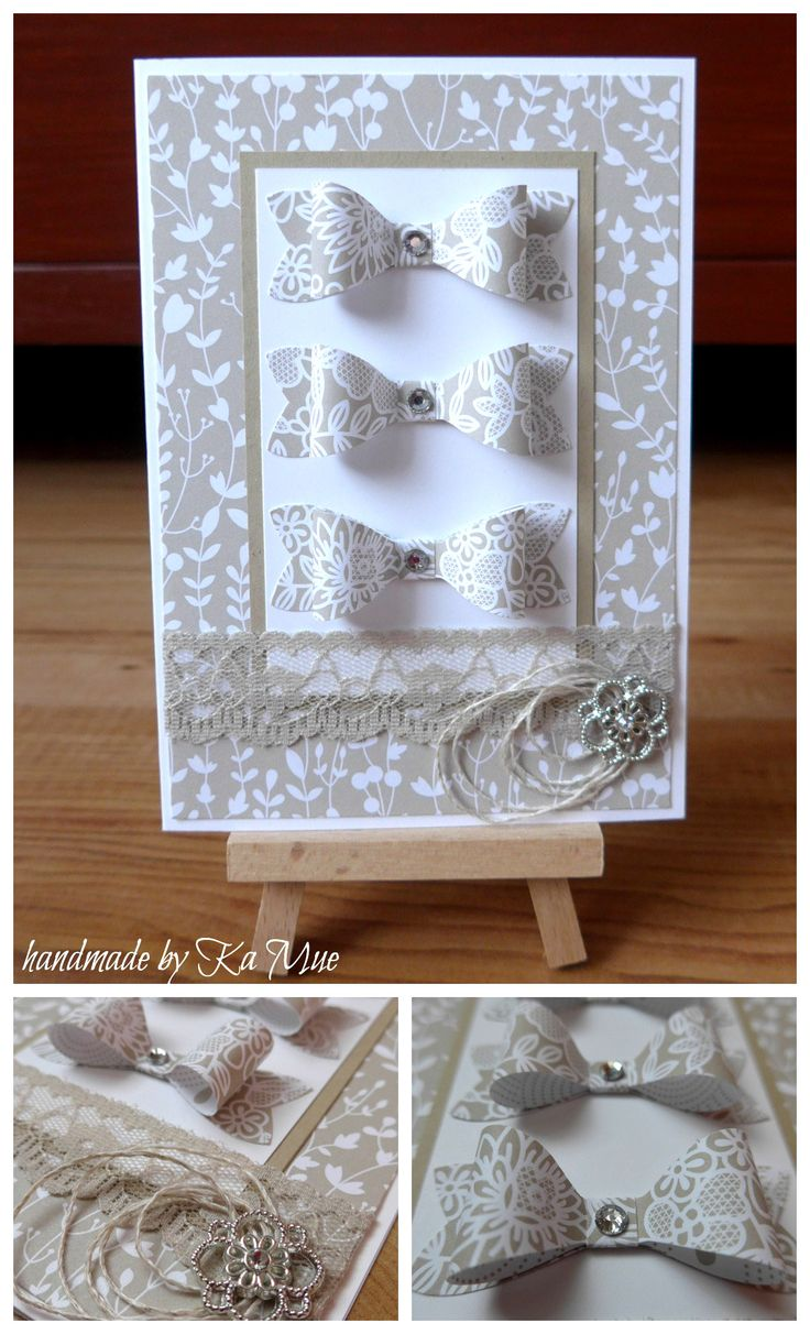 #stampin' up! #trau dich #Something Borrowed Designer Series Paper #Bow Builder Punch