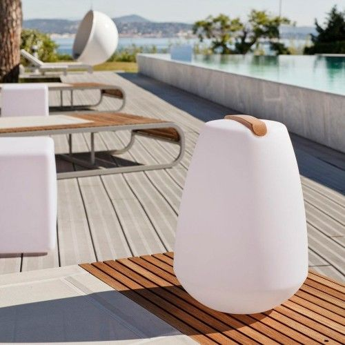 19 best outdoor lamps images on pinterest outdoor lamps vessel portable outdoor led lamp pebble the vessel is waterproof shockproof cordless and rechargeable it can be used both indoors and out mozeypictures Gallery