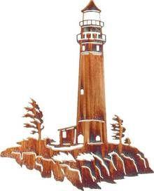 Metal lighthouse decor