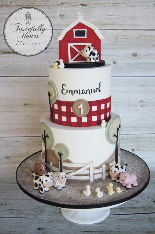 Barnyard Birthday - http://cakesdecor.com/cakes/286622-barnyard-birthday