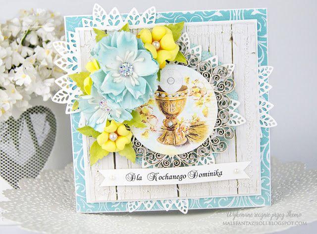 Blog Craft Passion: Kartka komunijna / Communion card for a boy