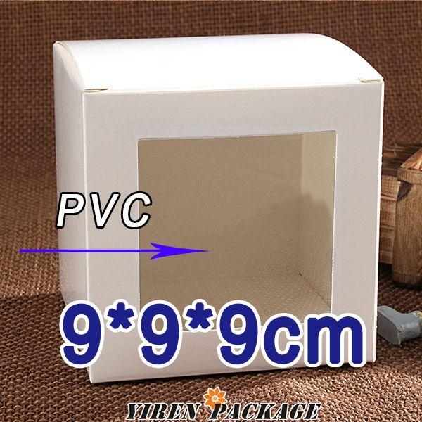 9*9*9 см белая бумага коробка с окном в высоком качестве/упаковка коробка/случаи и дисплей/подарки и ремесла/100% гарантия