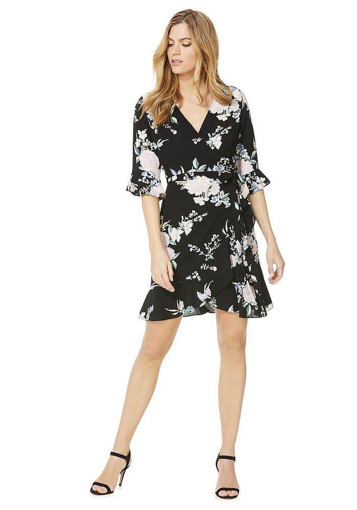 081ac18ea Tesco direct: F&F Floral Print Wrap Dress | JRC IN-STORE 2018 ...
