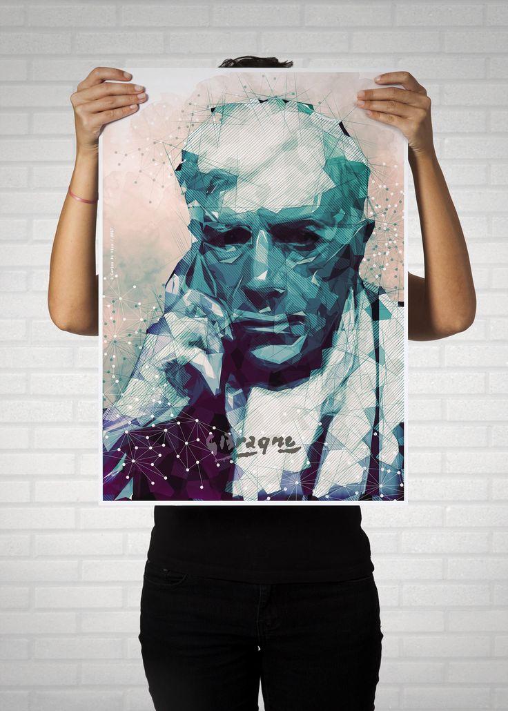 Georges Braque, cubismo, arte digital, lamina ilustrada, colección y decoración, artistas de CarlosDiVicoArt en Etsy