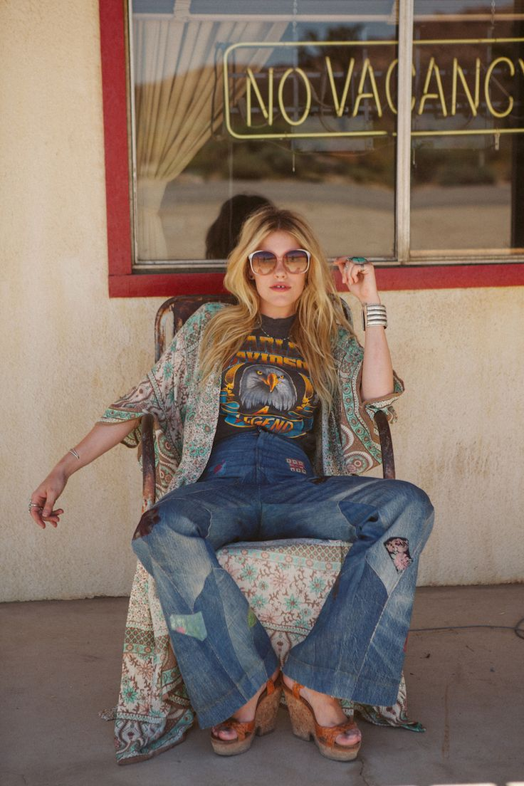 Spell & The Gypsy Collective, flares, vintage tee.