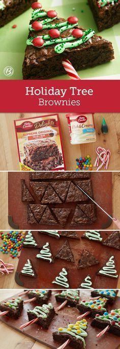 Feiertagsbaum Brownies – Elif Funda – #Brownies #…