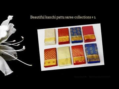 New Designs  -  Beautiful kanchi pattu saree Collections # 1