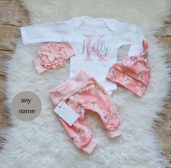 Best 25 baby girl personalized ideas on pinterest h boy names baby girl clothes monogrammed bodysuit baby girl coming home outfit birthday girl outfit personalized baby outfit pink floral outfit negle Choice Image