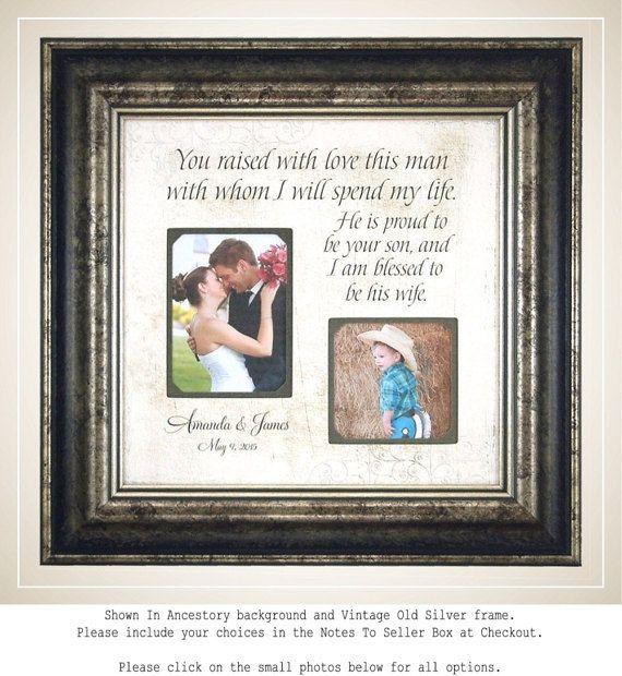Bruiloft cadeau voor In wetten InLaws, ouders van de bruidegom, moeder van de bruidegom, u aan de orde gesteld met liefde deze Man, gepersonaliseerde bruiloft, 16 X 16