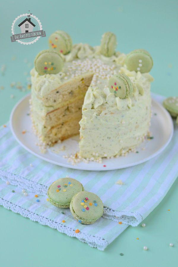 Macaron Pistazien Törtchen - Macaron Pistachio Cake   Das Knusperstübchen