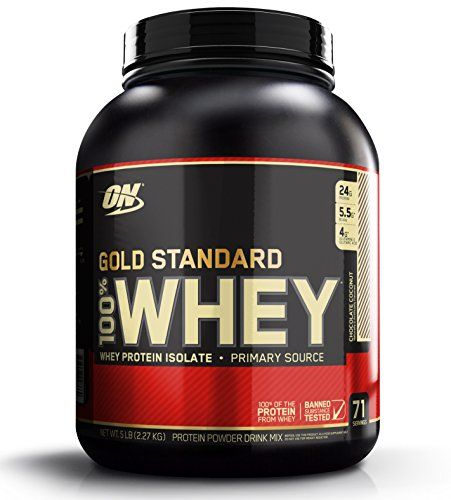 Optimum Nutrition Gold Standard 100% Whey Protein Powder, Chocolate Coconut, 5 Pound