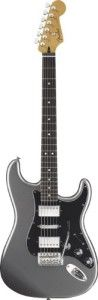 Fender Blacktop Stratocaster HSH, Rosewood Fingerboard - Titanium Silver