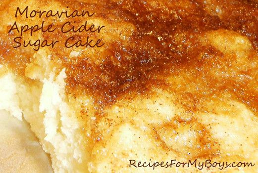 Moravian Apple Cider Sugar Cake