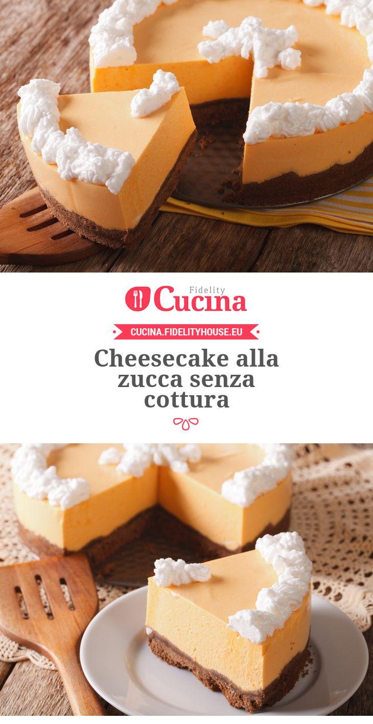 #Cheesecake alla #zucca senza cottura