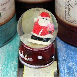 Mini Noel Baba Pembe Torbalı Su Küresi