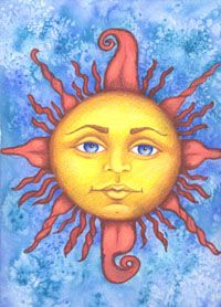 "Here is an image that has aired on CBS Sunday Morning Show 2 times. This is called ""Sweet Sun"" and it is watercolor and ink & colored pencil on watercolor paper. You can see it on CBC's website under their videos. This video is called ""Thank You for the Suns"" and aired in August"