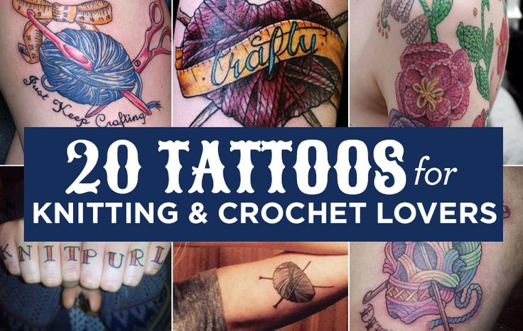 20 Tattoos For Knitting.  I'm not a fan of tattoos but some of these designs are eye catching.