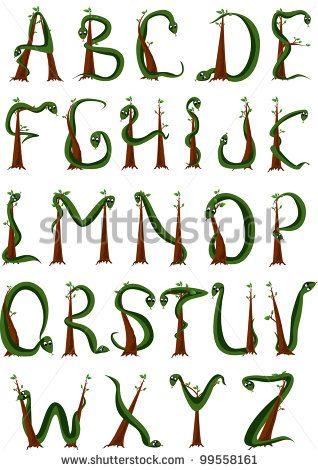 S Snake Font Snake alphabet ...