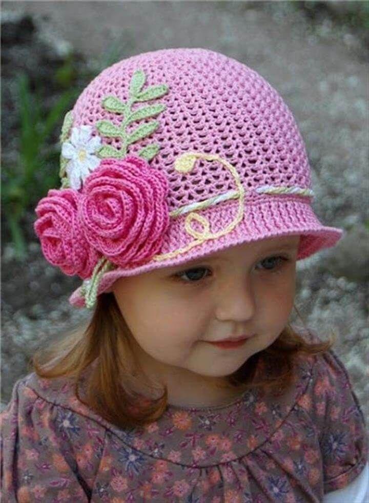 5ad30207ed5 26 DIY Crochet Brimmed Beanie Hats
