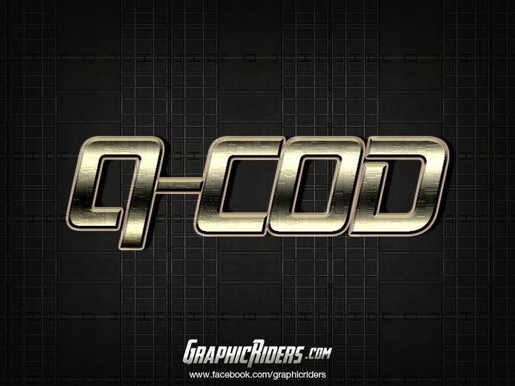 Sci-fi style Q Cod   Free photoshop layer style, text effect.  #graphicriders
