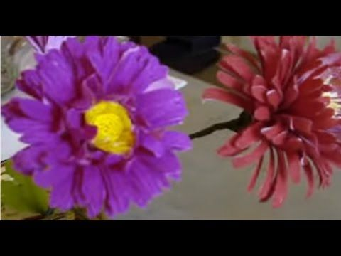 294 best paper flower images on pinterest diy flowers fabric making flower out of paper chrysanthemum mum mightylinksfo