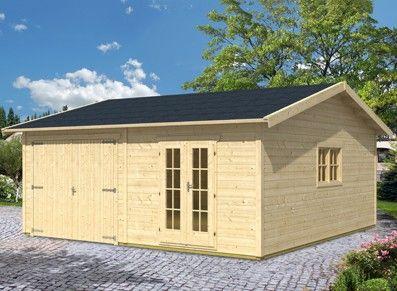 Une entrée indépendante pour ce garage en sapin : un espace sécurisé et facile à monter au design très élégant!