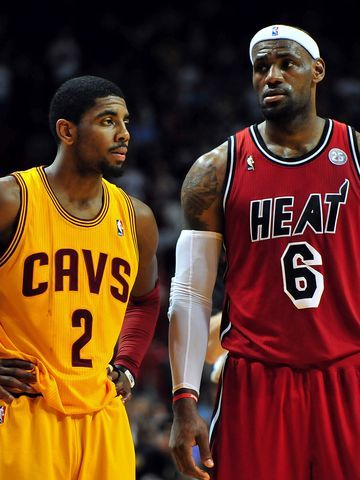Kyrie Irving (2) should be able to flourish playing alongside LeBron James (6).