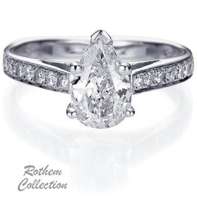 Elizabeth taylor pear shaped engagement ring