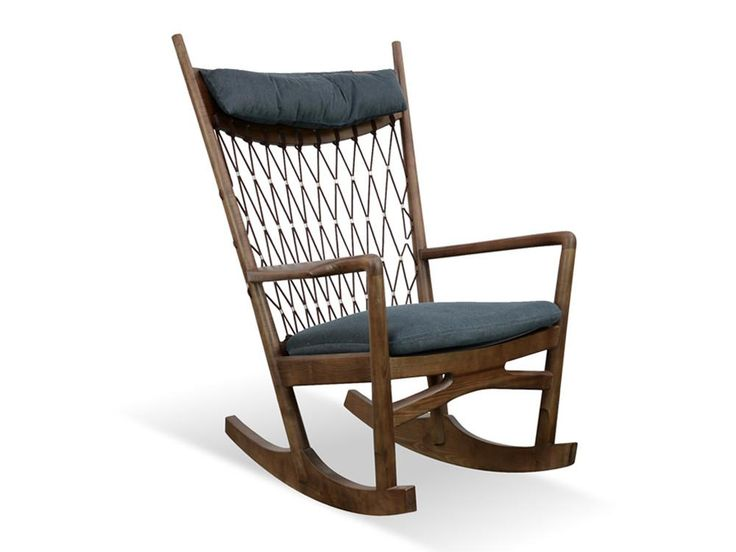 Ash Wood and Mesh Rocking Chair (Charcoal) - FREE SHIPPING AUSTRALIA WIDE