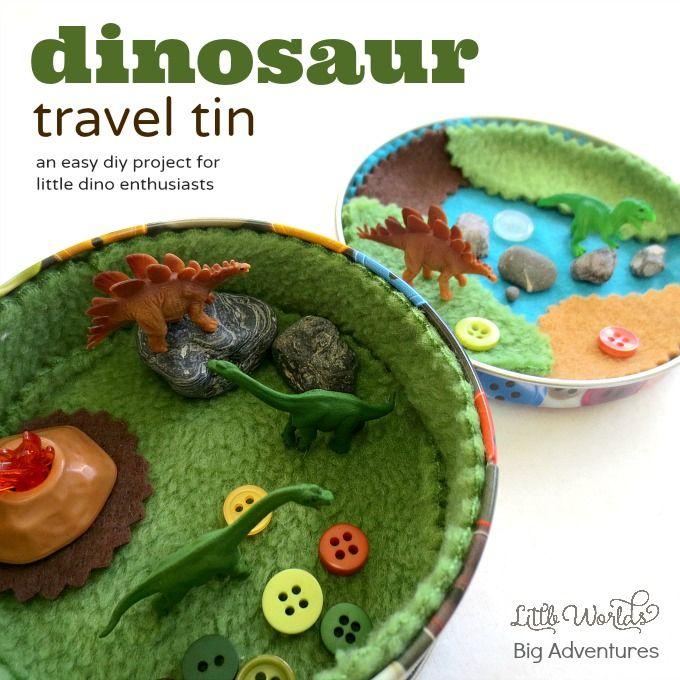 How to Make a Mini Dinosaur Travel Tin