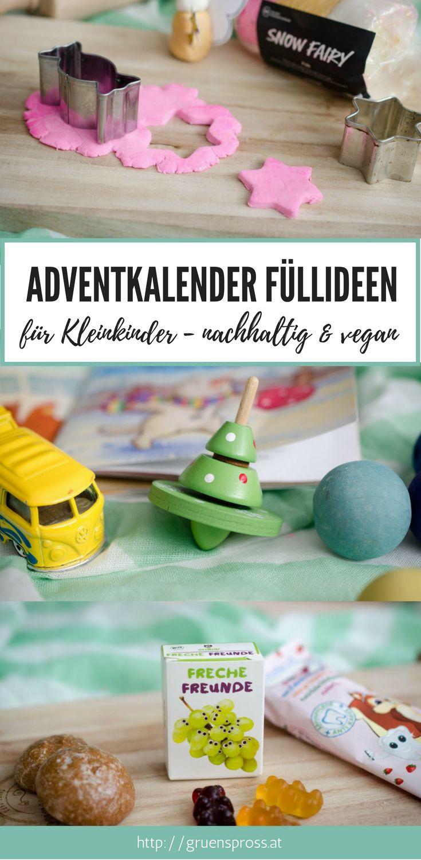 Adventkalender Füllideen für Kleinkinder / Kinder - vegan und nachhaltig, selbstgemacht, DIY, Ideen für den Adventkalender