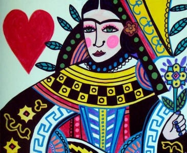 Queen of Hearts Frida Kahlo Mexican Art by HeatherGallerArt, $24.00