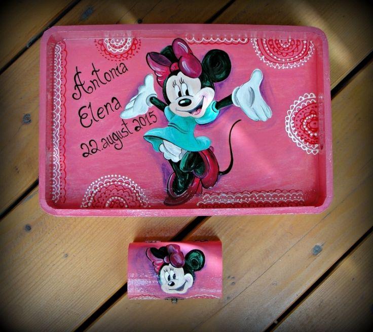 """Set+pentru+moț+""""Minnie"""""""