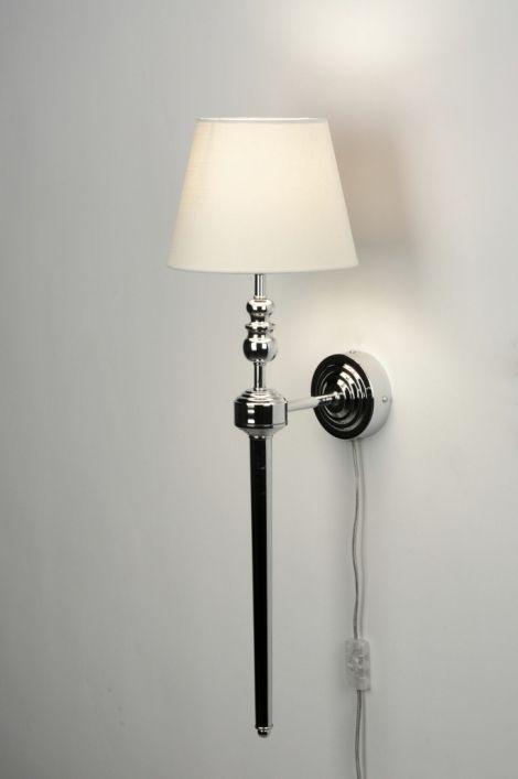 Wall Lamp 71585 Modern Cream Metal Fabric