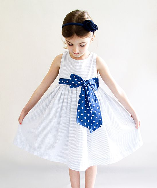 Sophie Catalou Light Blue Dot Picnic Dress