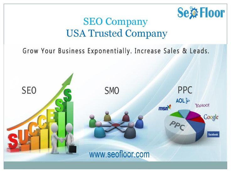 Best SEO Company - USA Trusted Company  Seofloor is a USA SEO company. Seofloor is team of experts and professionals, which helps to get you on the first page of search engine like Google. Seofloor helps to promote your website with custom keyword analysis. They help to get your company ranked on Google and massive exposure to your customers.  To know more about seofloor Visit www.seofloor.com Seofloor provide following these services which helps you in your business promotioning Search…