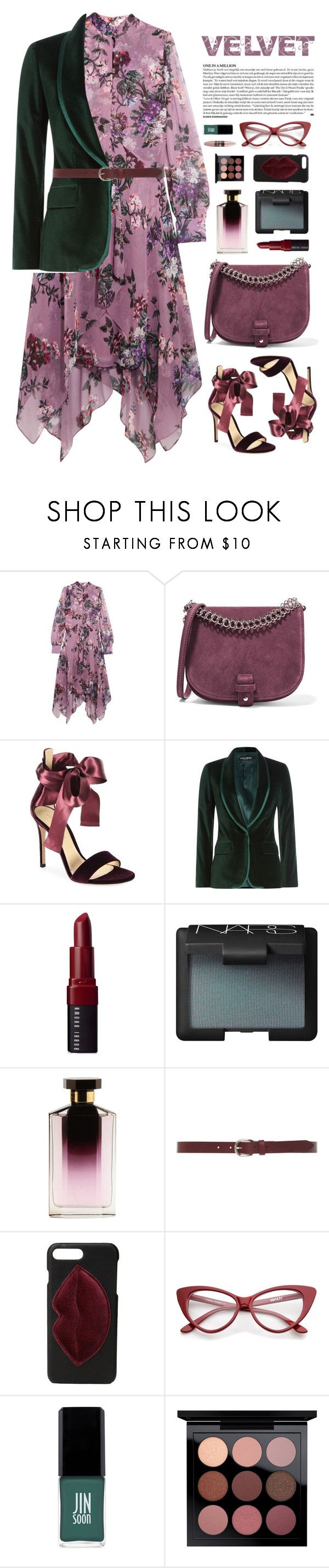"""""""Velvet Darling"""" by cara-mia-mon-cher ❤ liked on Polyvore featuring Erdem, Little Liffner, Gianvito Rossi, Dolce&Gabbana, Bobbi Brown Cosmetics, NARS Cosmetics, STELLA McCARTNEY, Isabel Marant, Kendall + Kylie and Jin Soon"""